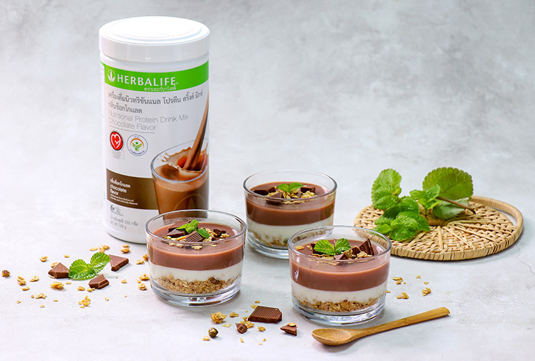 Healthy Recipe: Granola Nutritional Chocolate Pudding Yoghurt