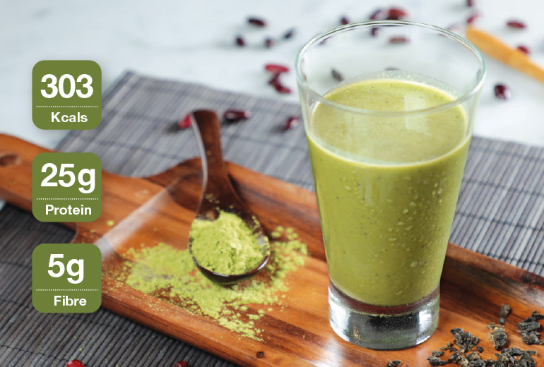 Healthy Recipe: Matcha Shake with Red Bean